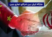 جایگاه ایران بین شرکای تجاری چین