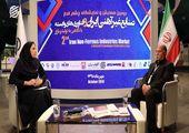 مصاحبه با یوسف مرادلو رئیس هیات مدیره و دبیر انجمن  در حاشیه همایش صنایع غیرآهنی