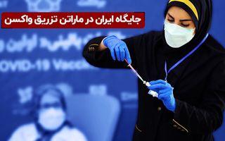 جایگاه ایران در ماراتن تزریق واکسن