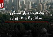 وضعیت بازار مسکن مناطق ۴ و ۵ تهران