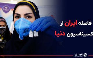 فاصله ایران از واکسیناسیون دنیا